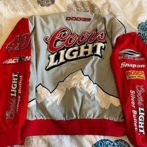 Vintage coors light biker jacket